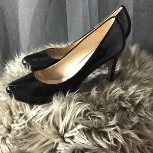Black Coach Patent Leather Heels